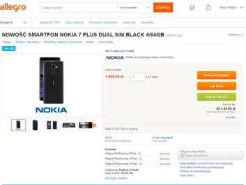 Nokia 8 Sirocco i 7 Plus w przedsprzedaży