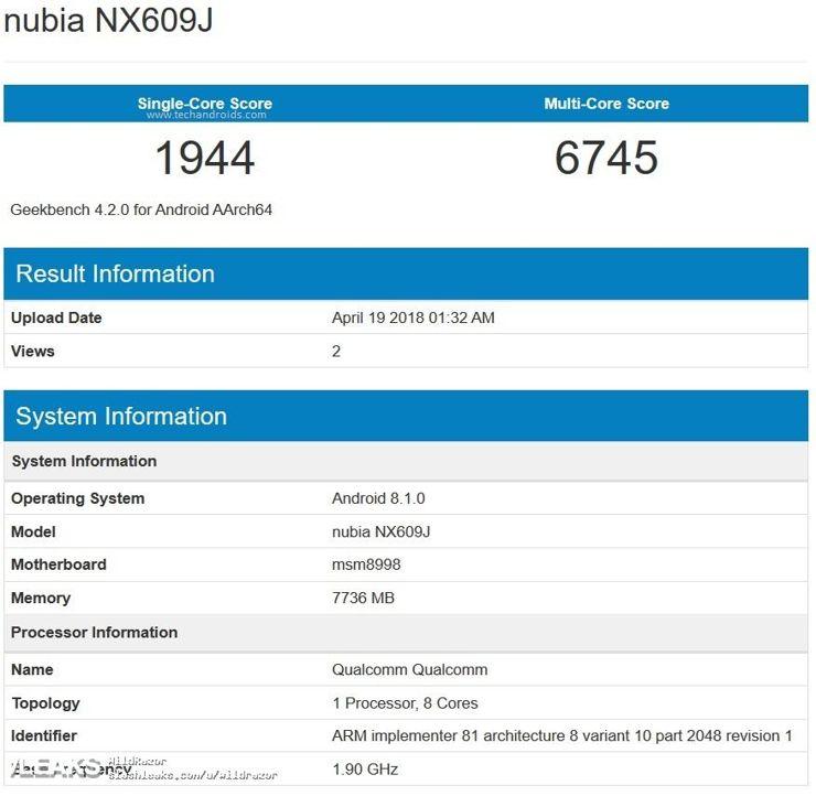 Nubia Red Devil - gamingowy smartfon przedpremierowo w Geekbench
