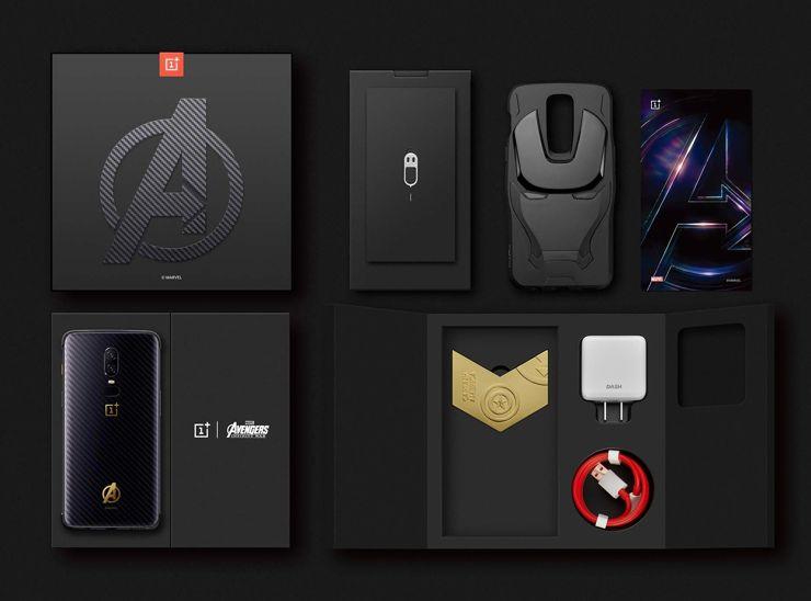 Opakowanie i zestaw OnePlus 6 Avengers: Infinity War Edition