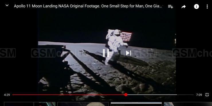 Cień lądownika Apollo 11 na ekranie Huawei Mate 10 Pro