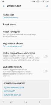 Ustawienia wyświetlacza | Personalizacja | Tryby ekranu