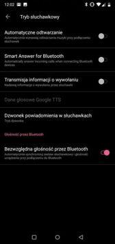 Aplikacje telefonu i SMS, ustawienia dźwięku