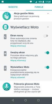 Aplikacja Moto z akcjami gestów i wyświetlaczem Moto | Moto Z Market
