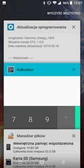 Aplikacje fabryczne, dzielenie ekranu