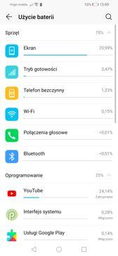 Zarządzanie baterią | Czas pracy z włączonym ekranem