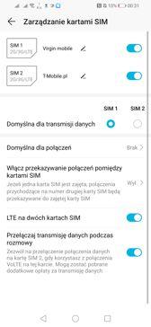 Ustawienia dualSIM | Połączenia głosowe