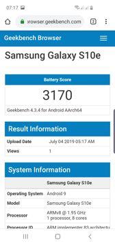 Wynik z Geekbench, PC Mark i czas pracy z włączonym ekranem